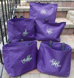 Items Similar To Bride Tote Bag Bridesmaid Totes Set Of 8 On Etsy