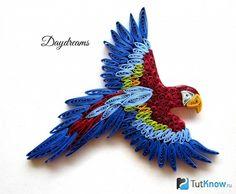 Бумажный орел квиллинг