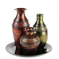 Kirkland's Mosaic Band Vase, Set of 3