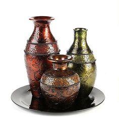 Kirkland's Mosaic Band Vase, Set of 3