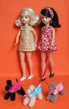SINDY DOLL 60'S OR TRENDY GIRL SIZE DRESS by SindyPoodle - Red dress & scarf