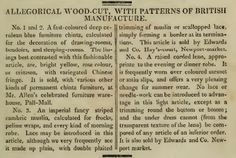 """Patterns of British Manufacture."" August 1810."