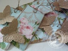 Tag butterfly Cote Passion--embossed paper and use butterfly punch