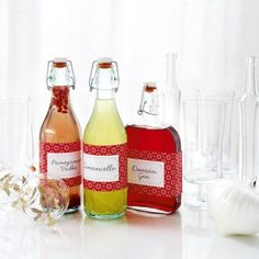 Homemade pomegranate vodka, limoncello and damson gin