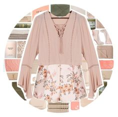 """""""peach"""" by xgracieeee ❤ liked on Polyvore featuring Henri Bendel, Barry M, Aspinal of London, Yves Saint Laurent, Elie Saab, Christy, Auteurs Du Monde, Origins, Threshold and FOSSIL"""