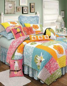 Kahala Hawaiian Deluxe Bedding Set   OceanStyles.com