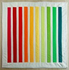 Rainbow's Spectrum Quilt   This colorful quilt is the perfect way to shake off the winter blues!