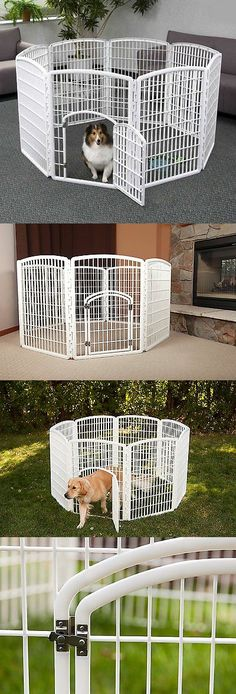 Fences and Exercise Pens 20748: Dog Playpen Puppy Exercise Fence Indoor Outdoor Outside Kennel Plastic Pet Pen -> BUY IT NOW ONLY: $81.24 on eBay!