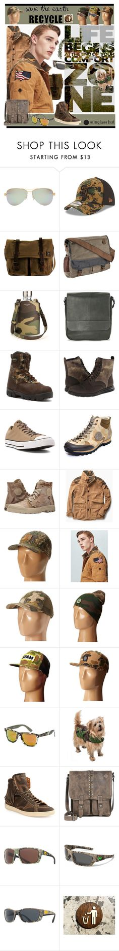 """""""Go Camo! Recycle!"""" by yours-styling-best-friend ❤ liked on Polyvore featuring Tiffany & Co., New Era, DamnDog, R & R Collections, Yves Saint Laurent, Kenneth Cole Reaction, LaCrosse, Cole Haan, Converse and Napapijri"""