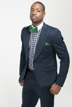 Dwyane Wade in his neckwear design for The Tie Bar. [Photo Courtesy of The Tie Bar]