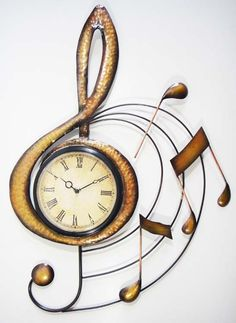g clef treble clef shape wall clock perfect for your