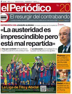 La portada del lunes 20/05/2013