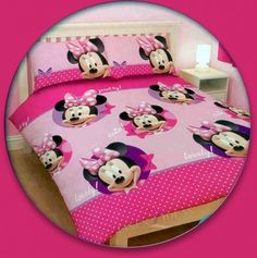 Disney Minnie Mouse Pretty Double Full Bedding Duvet Quilt Doona Cover Set Gift