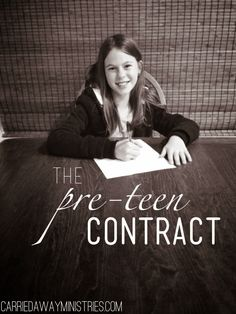 Pin Now to read later: How we're transitioning into the pre-teen and teenage years. A Pre-Teen contract.