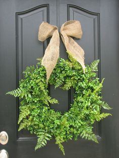 Love, love, love...not only the greens but the burlap ribbon and especially the paint color!!