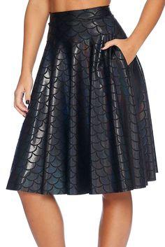 Merman Pocket Midi Skirt - LIMITED