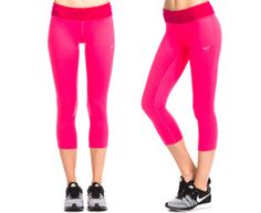 Nike Women's Epic Run Capri Tight - Pink