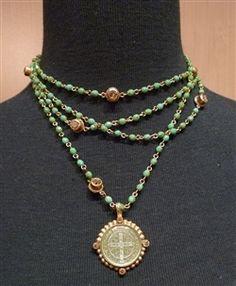 Virgin Saints & Angels San Benito Coin Necklace