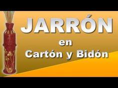 (w/o the tabs, just paint it) JARRÒN CON CARTÓN Y BIDÓN PLÁSTICO