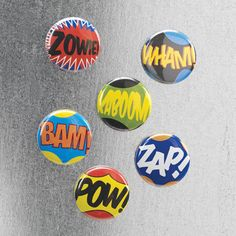 PopArt Magnets 6 Pack  by Design Ideas - i would put this on my fridge.