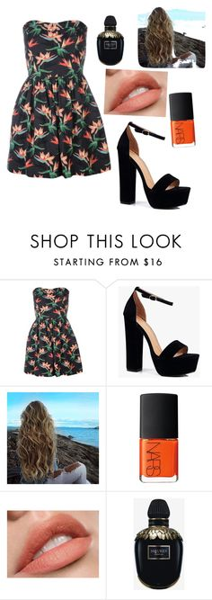 """""""Untitled #29"""" by dahat ❤ liked on Polyvore featuring Boohoo, NARS Cosmetics and Alexander McQueen"""