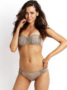 a651bfc3d6b5d Seafolly Swimwear 2013 Goddess Kiara Bustier Pleated Bandeau Hipster  Bathing Suit http   www