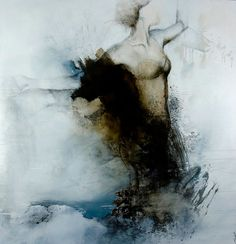 """""""Over time"""" by Virginie Bocaert - mixed media on canvas"""