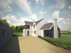 Paul McAlister Architects - The Barn Studio, Portadown, Northern Ireland… Ireland Homes, House Ireland, Rural House, House 2, Cottage Extension, Farmhouse Architecture, Modern Barn, House Extensions, Country Style Homes