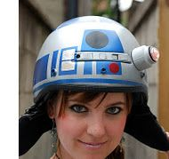 How to make an R2D2 helmet! I soooo need this!!