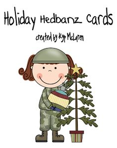 Holiday (Christmas, Fall, etc.) cards to use for Headbanz - free download