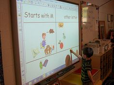 initial sound sort on Promethean Board