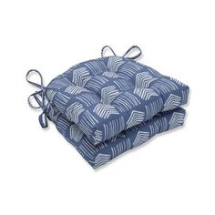 Pillow Perfect Indoor Whythe Harbor Reversible Chair Pad (Set of 16 in. W X 4 in. D (Whythe Harbor), Blue - Medium (Cotton, Geometric) Retro Office Chair, Office Chairs, Tufted Chair, Upholstered Chairs, Swivel Chair, Chair Ties, Outdoor Dining Chair Cushions, Contemporary Chairs, Oversized Chair