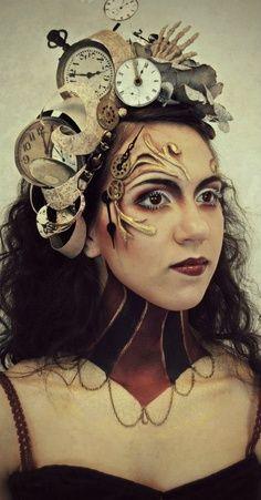 steampunk+makeup   Candy make up artist   steampunk makeup