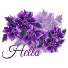 ᐅ Top 51 Hello images, greetings and pictures for WhatsApp - SendScraps Purple Bird, Purple Love, All Things Purple, Shades Of Purple, Purple Flowers, Purple Stuff, Plum Purple, Purple Glitter, Animated Gifs