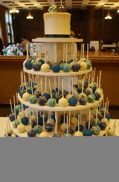 Fabulous pop cake wedding tower