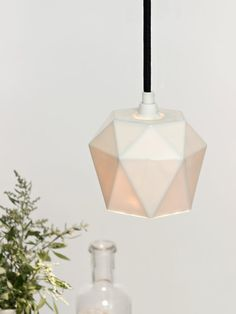 Porzellan hanging lamp K1 Lamp triangulated by GANTlights on Etsy