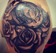 Wonderful Designer Rose Tattoo