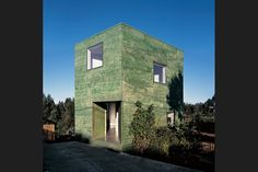green-stained Fosc House in San Pedro, Chile