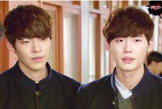 "Kim Woo Bin and Lee Jong Suk as Heung Soo and Nam Soon in ""School 2013"""
