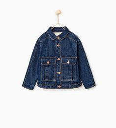 Fleece-lined denim jacket-今週の新商品-ガール (4 - 14歳)-キッズ | ZARA 日本