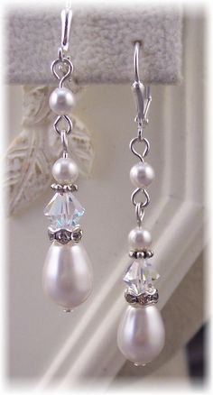 Bridal Swaroski Crystal/Rhinestone/Pearl  by HisJewelsCreations, $24.00