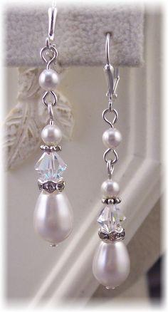 Bridal Swaroski Crystal/Rhinestone/Pearl  by HisJewelsCreations, $24.00