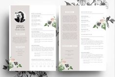 Resume Template in PSD and Word file by Emily's ART Boutique on @graphicsmag