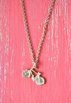 Cycling Around Necklace, $18