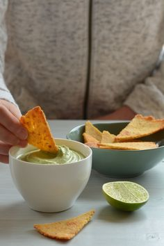 Impress your guests with these homemade, oven-baked tortilla chips. Made with polenta and chickpea flour, they're crunchy, full-flavoured and good for you.
