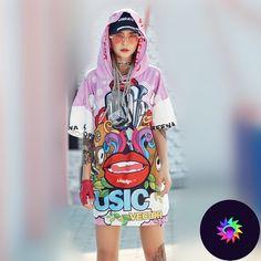 NEVER anime cartoon joker women hip hip T shirt hooded graphic tees kawaii harajuku hiphop hippie vs pink long tops. Hip Hip, Oversized Shirt Outfit, Harajuku, Streetwear, Aesthetic T Shirts, Wonder Women, Joker, Kawaii, Short Outfits