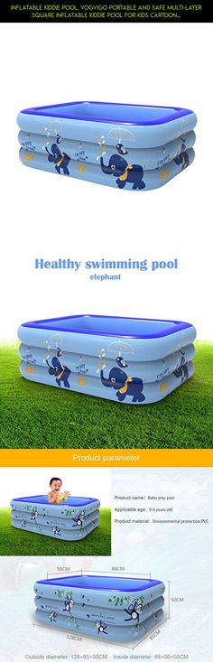Inflatable Kiddie Pool, Vogvigo Portable and Safe Multi-layer Square Inflatable Kiddie Pool for Kids Cartoon Pattern Printed Baby's Playing Swimming and Bathing Pool ( Elephant Pattern) #products #parts #kiddy #technology #racing #shopping #tech #fpv #gadgets #hard #plans #camera #drone #pools #kit