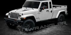 Jeep Wrangler Pickup - New Jeep Truck Rendered