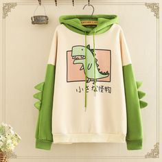 Cute Dinosaur Cartoon Brushed Hoodie Source by Modakawa hoodies Korean Outfits, Mode Outfits, Fashion Outfits, Tomboy Outfits, Baby Boy Outfits, Sweatshirt Outfit, Graphic Sweatshirt, Kawaii Fashion, Cute Fashion