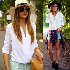 Stylish Lady Women Long Sleeve V-neck Irregular Chiffon Blouse Shirt Tops
